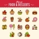 Collection of Food Icons in Flat Design Style - GraphicRiver Item for Sale