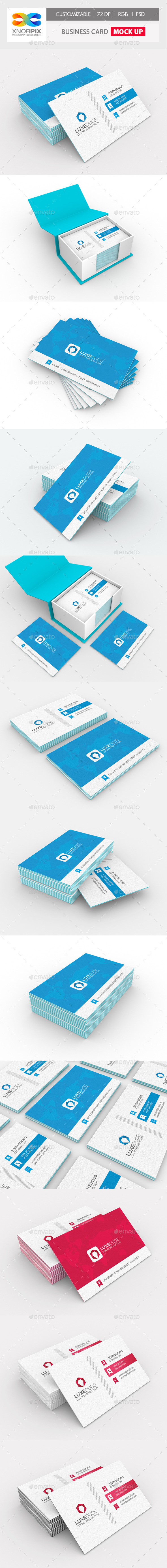 GraphicRiver Luxe Business Card Mock-up 10736603