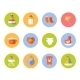 Vector Card With Colorful Baby Icons - GraphicRiver Item for Sale