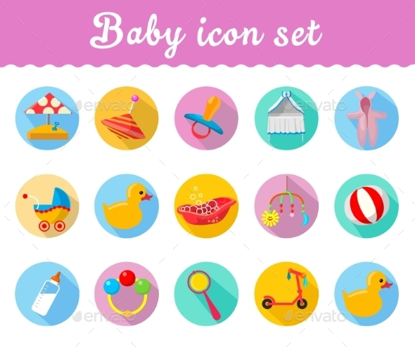 GraphicRiver Baby Icons 10736689