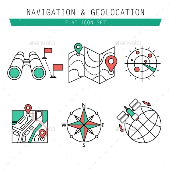 GraphicRiver Different Navigation Icons Set With Rounded Corner 10736983