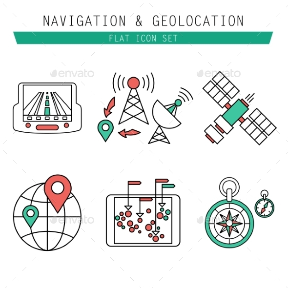 GraphicRiver Different Navigation Icons Set With Rounded Corner 10736986