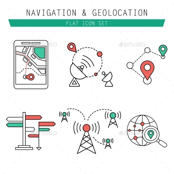GraphicRiver Different Navigation Icons Set 10736988