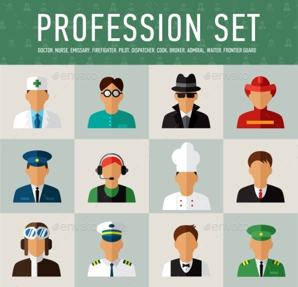GraphicRiver Different People Professions Characters Set 10737078