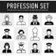 Occupation Icons, Mono Vector Symbols - GraphicRiver Item for Sale