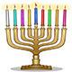 Hanukkah Lamp Hanukkiah - GraphicRiver Item for Sale