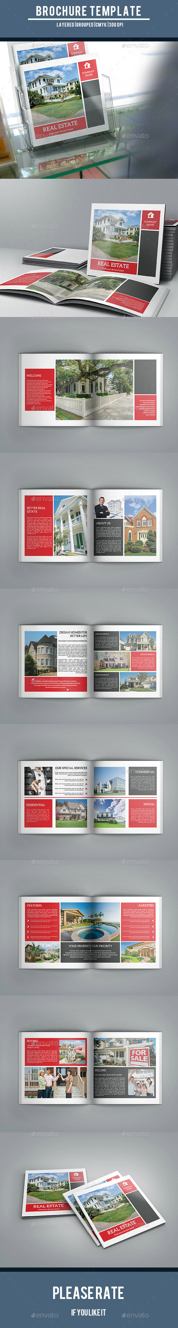 GraphicRiver Square Brochure Real Estate Company-V15 10737260