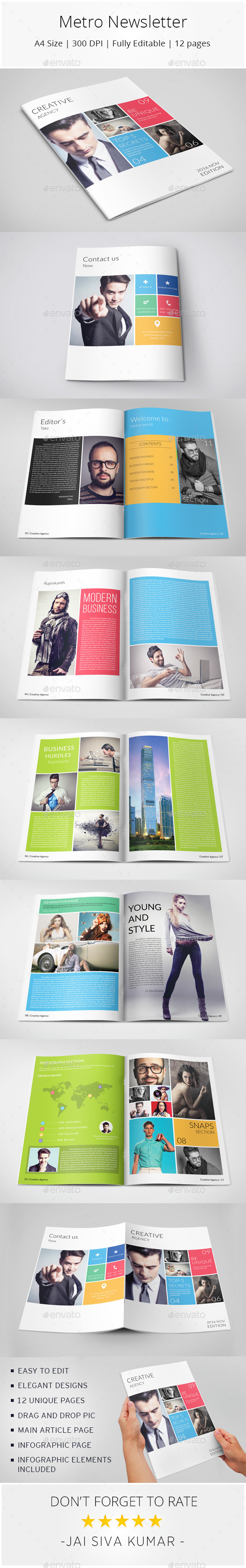 GraphicRiver Metro Style Newsletter 10678884