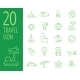 Vector Travel Icons in Flat Simple Style. - GraphicRiver Item for Sale