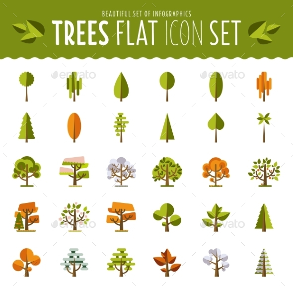 GraphicRiver Ttree Icon Set 10737408