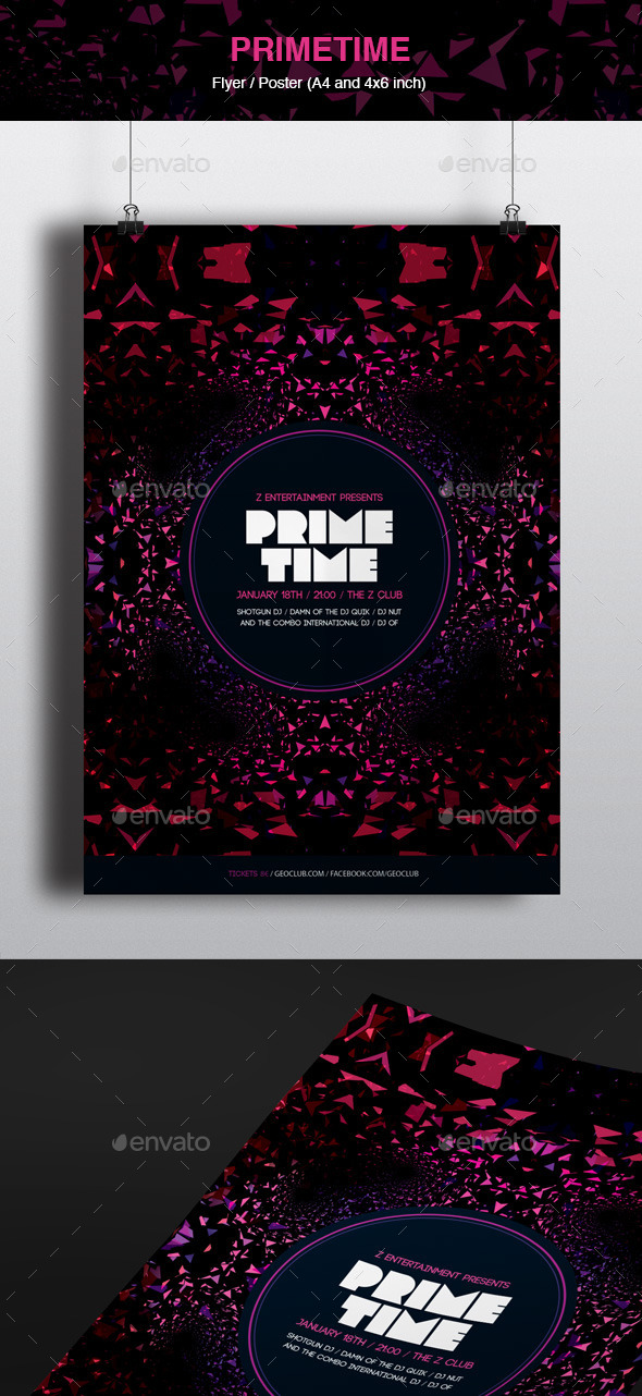 GraphicRiver Primetime Poster and Flyer 10737430