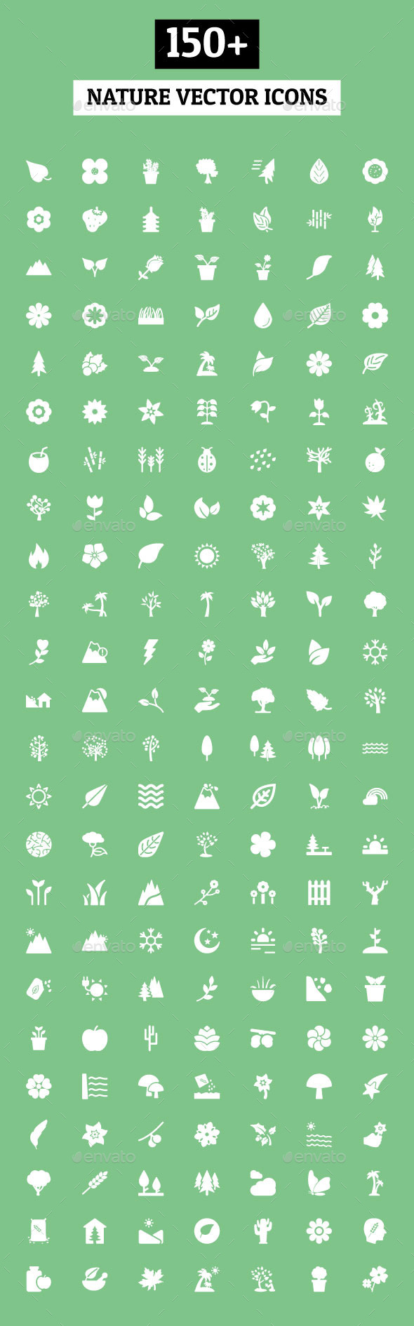 GraphicRiver 150& Nature Vector Icons 10737662
