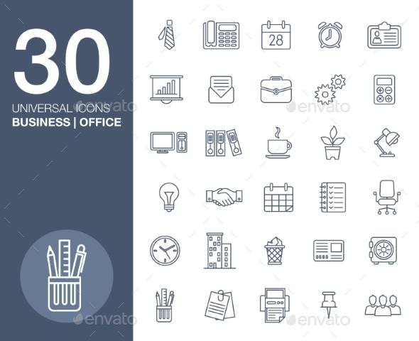 GraphicRiver Business Icons Set.Vector Illustration 10738308