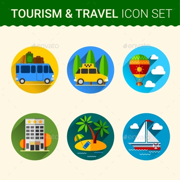 GraphicRiver Travel Icon Vector 10738370