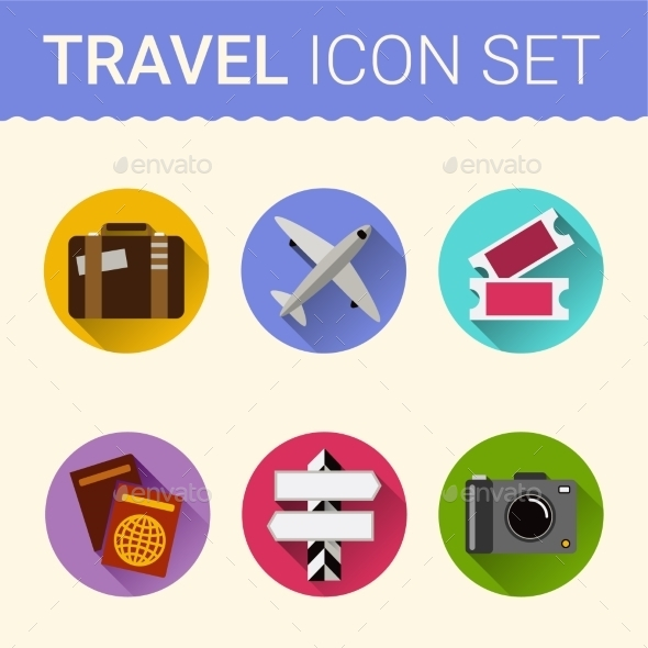 GraphicRiver Travel Icon Vector 10738390