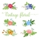 Flowers Vector Design. Set of Floral Icon - GraphicRiver Item for Sale