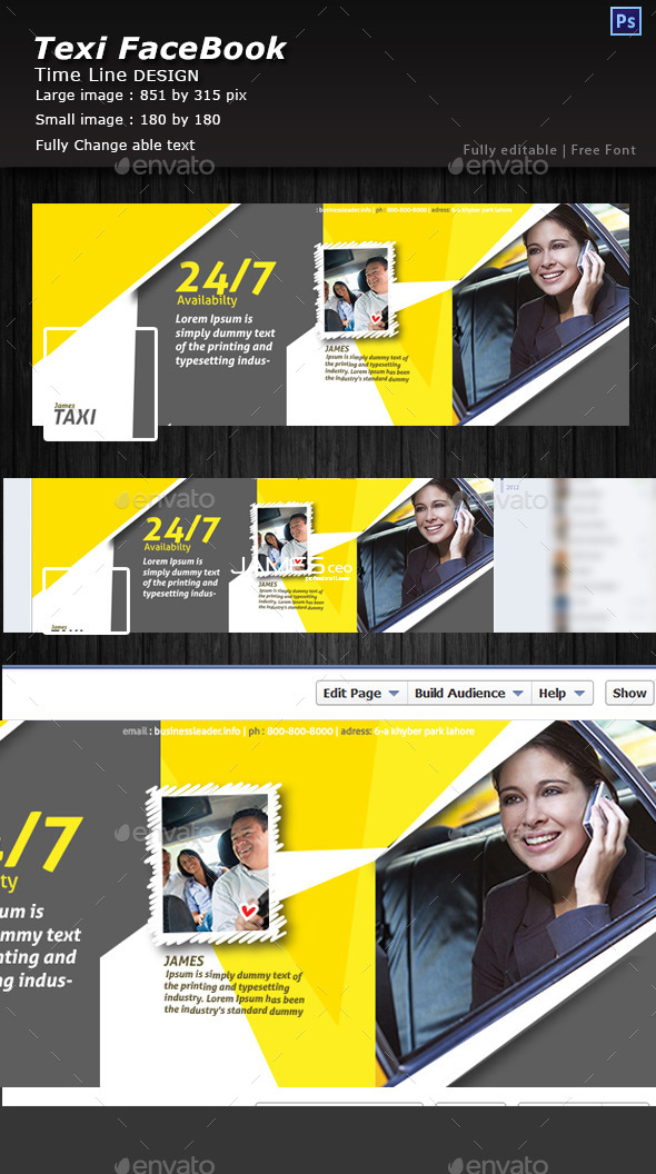 GraphicRiver Texi Driver Facebook Timeline Cover 10738511
