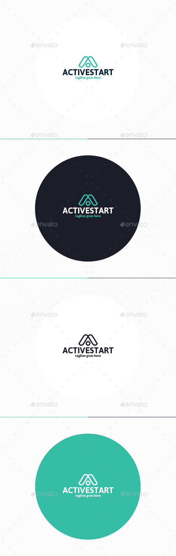 GraphicRiver Active Start Logo Letter A 10738655