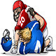 Football Players Fight and Punch - GraphicRiver Item for Sale