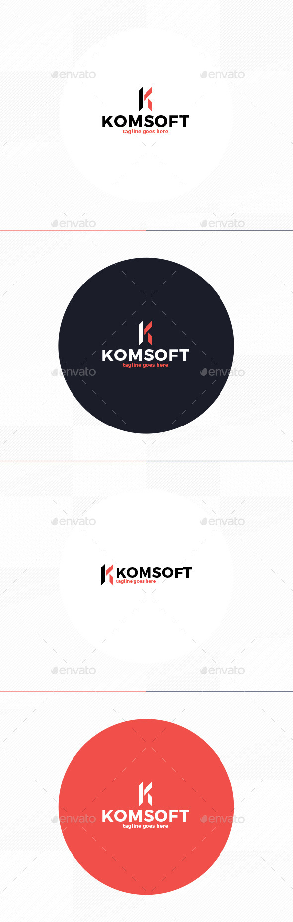 GraphicRiver Kom Soft Logo Letter K 10738735