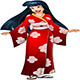Asian Woman in Red Kimono - GraphicRiver Item for Sale