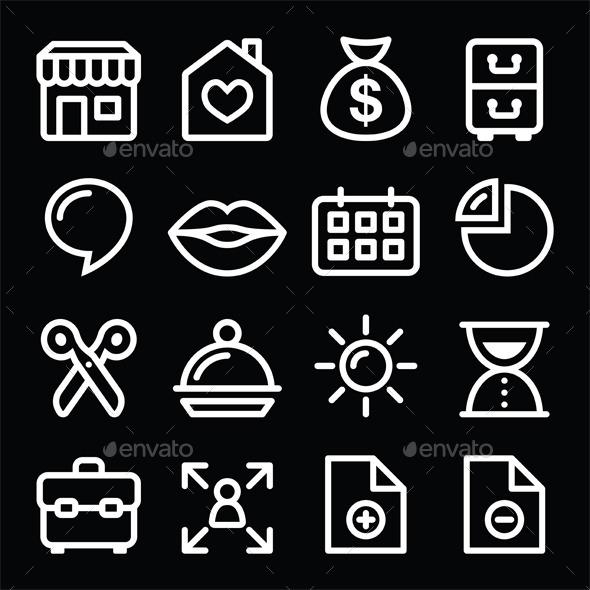 GraphicRiver Website Menu Navigation Icons 10738757