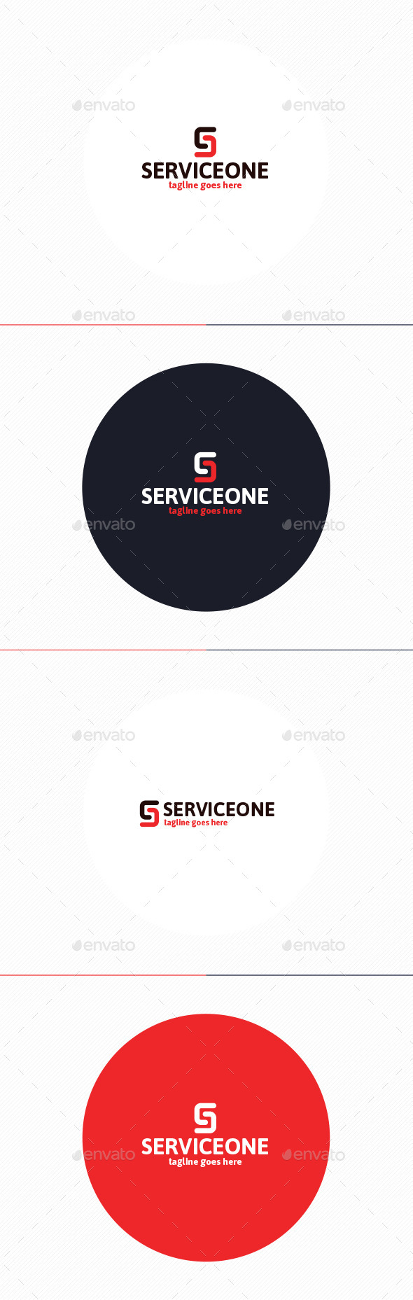 GraphicRiver Service One Logo Letter S 10738962