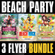 Beach Party Flyer Template Bundle - GraphicRiver Item for Sale