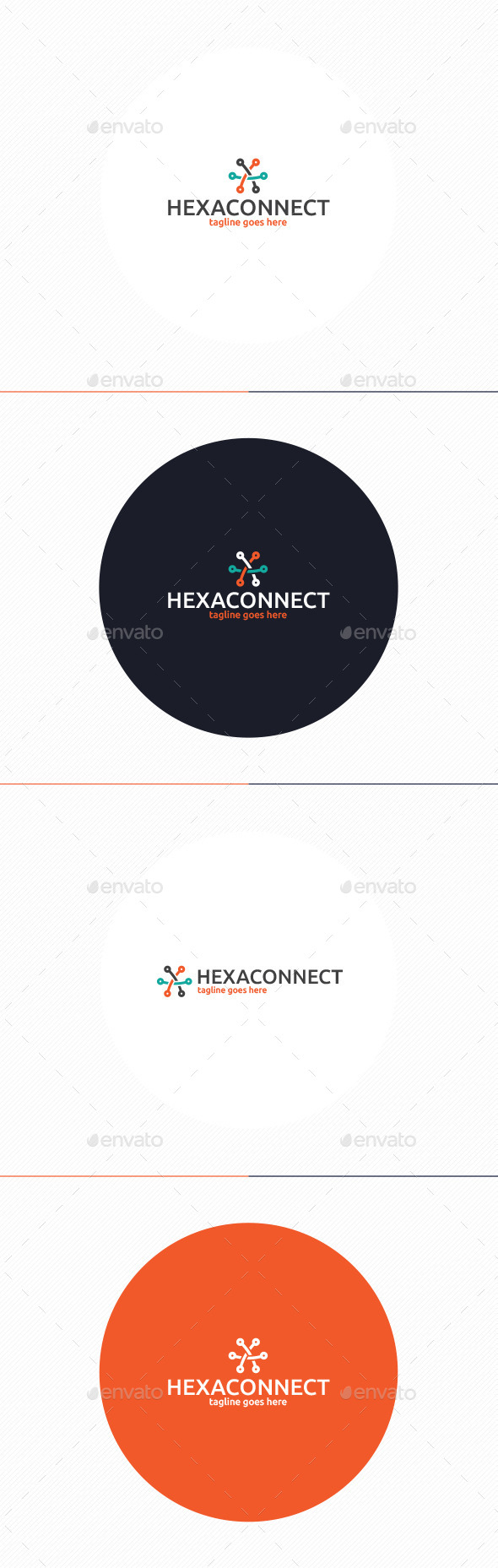 GraphicRiver Hexa Connect Logo 10738974