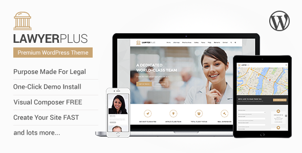 ThemeForest LawyerPlus Legal Office WordPress Theme 10617308