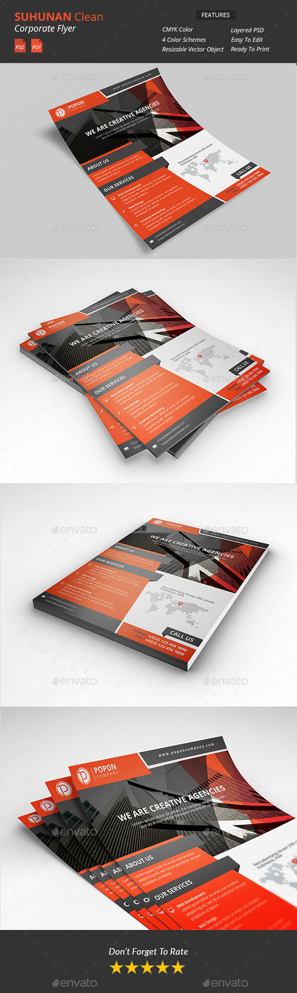 GraphicRiver Suhunan Clean Corporate Flyer 10739084