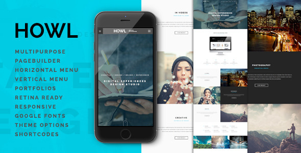 ThemeForest Howl Creative Multi-Purpose WordPress Theme 10739143