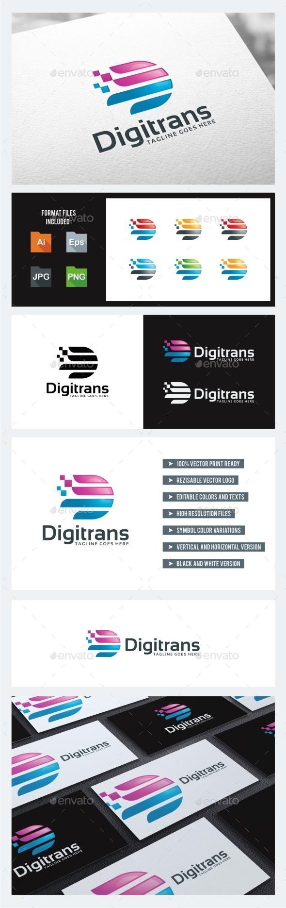 GraphicRiver Letter D Digital Transport 10739156