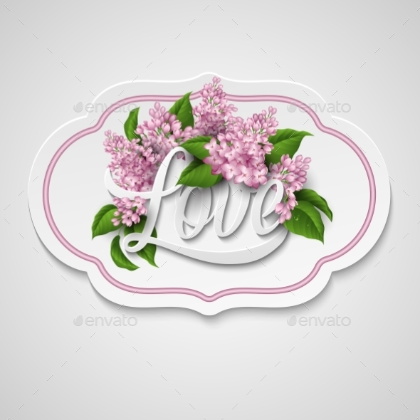 GraphicRiver Word Love with Flowers 10739192