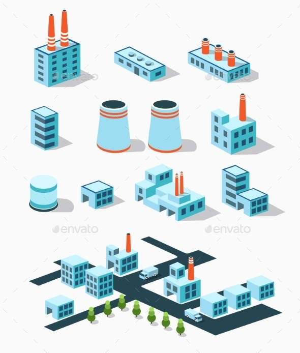 GraphicRiver Industrial Buildings 10739201