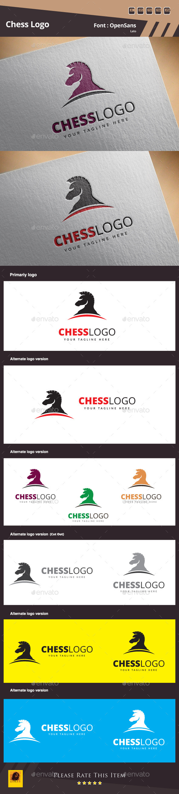 GraphicRiver Chess Logo Template 10739506