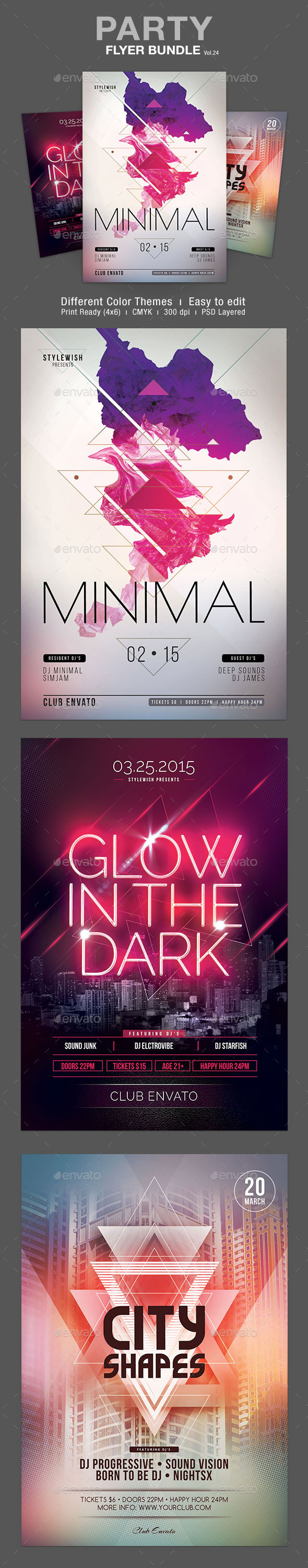GraphicRiver Party Flyer Bundle Vol.24 10740494
