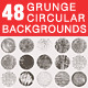 Grunge Circular Textures Backgrounds Frames - GraphicRiver Item for Sale