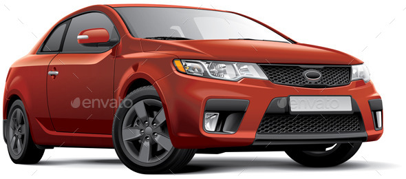 GraphicRiver Korean Compact Coupe 10734693