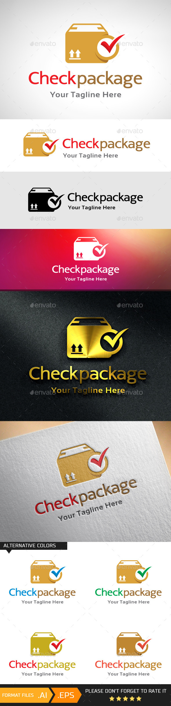 GraphicRiver Check Package Logo Template 10741235