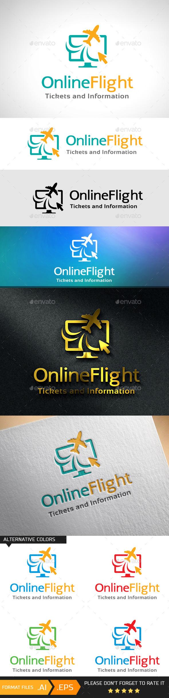 GraphicRiver Online Flight Logo Template 10741294
