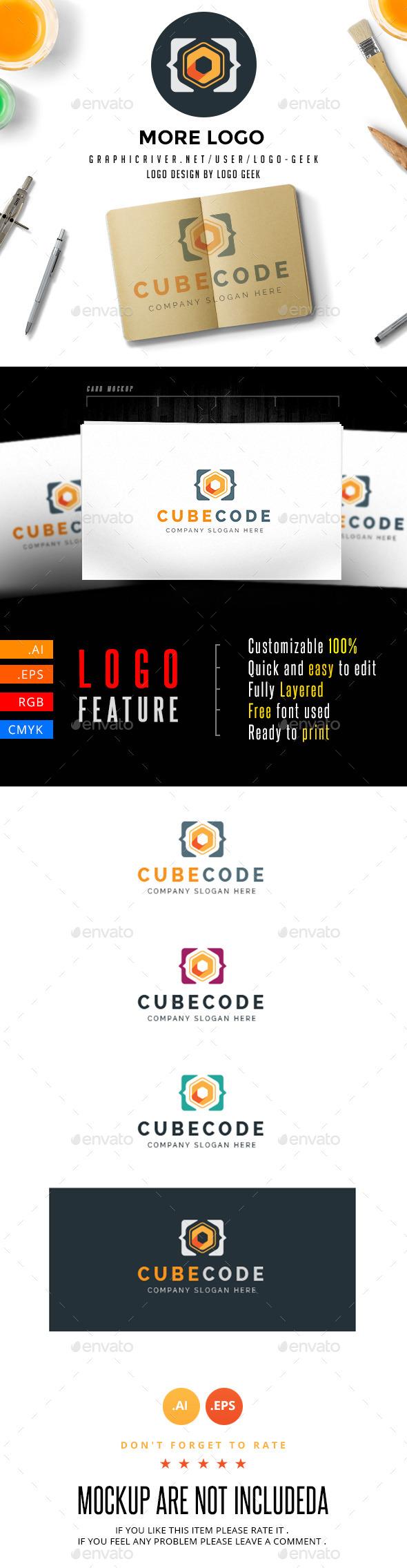 GraphicRiver Cube Code Logo 10741515