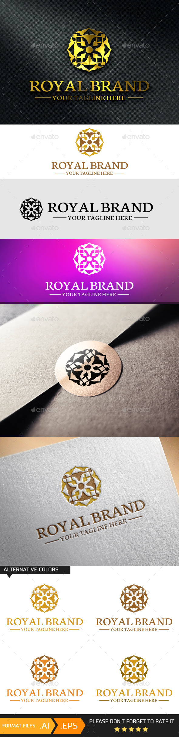 GraphicRiver Royal Brand Logo Template 10741540