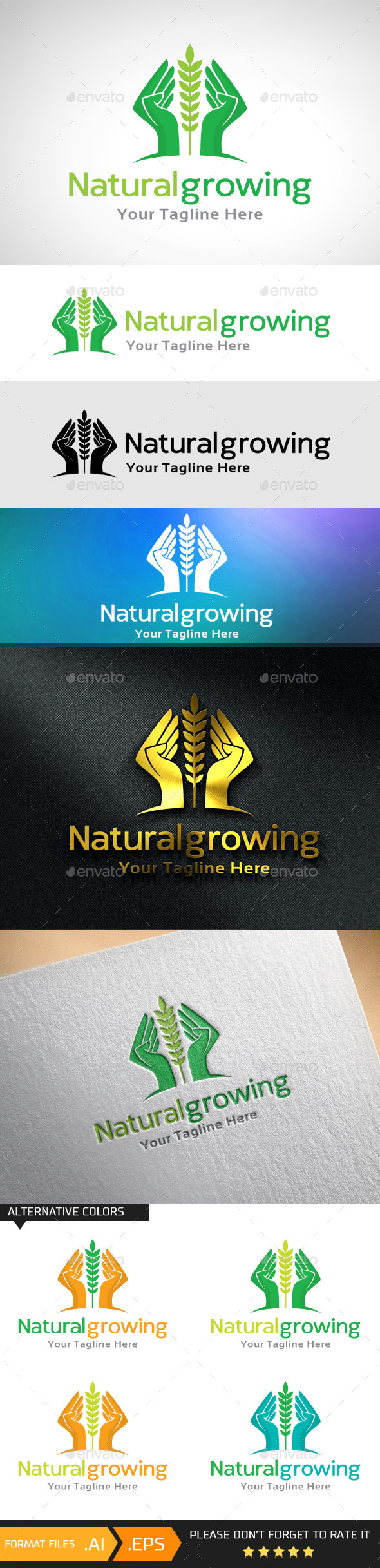 GraphicRiver Natural Growing Logo Template 10741582