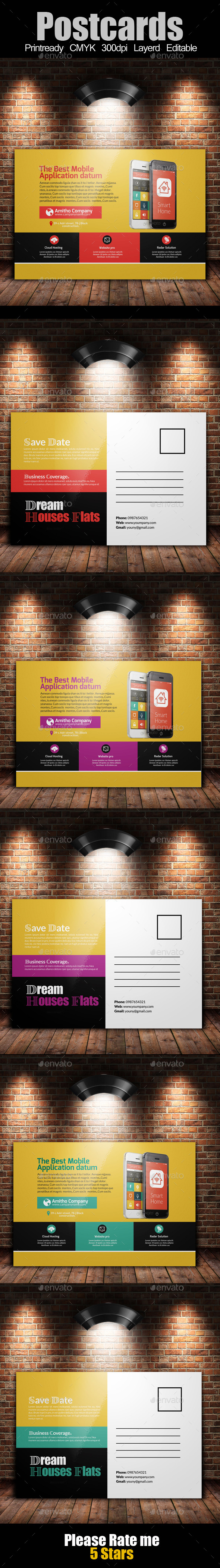 GraphicRiver Multi Use Business Post Cards Template 10741878