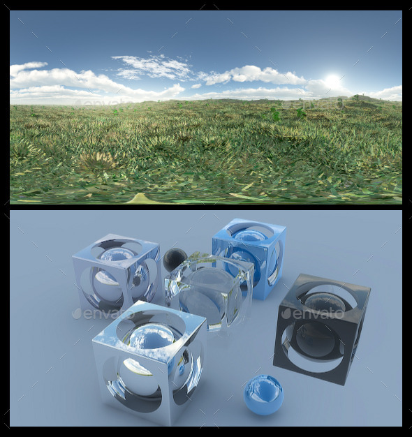 Open Grass Field 3 - HDRI - 3DOcean Item for Sale