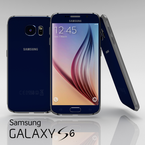 Samsung Galaxy S6 Sapphire Black - 3DOcean Item for Sale