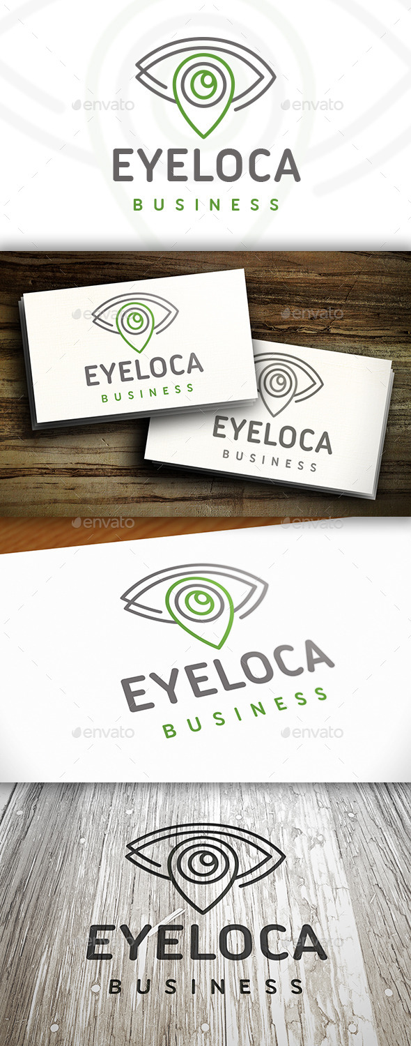 GraphicRiver Eye Locator Logo 10742510