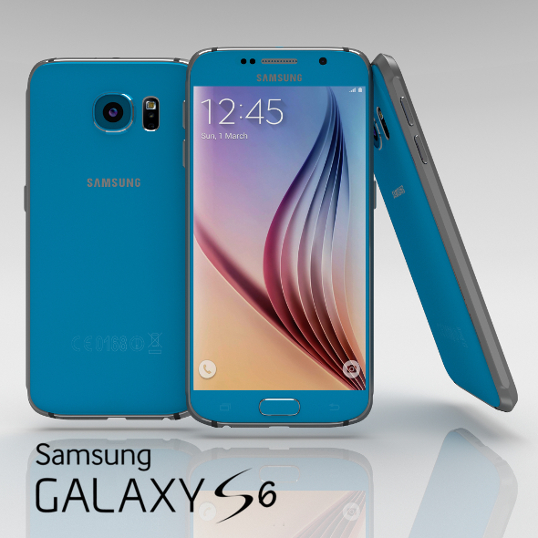 Samsung Galaxy S6 Topaz Blue - 3DOcean Item for Sale