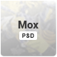 Mox - Single & Mutli Page PSD Template